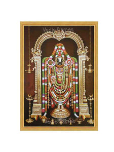Lord Balaji in flower alangaram