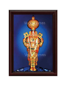 Lord Balaji utsavar in blue background