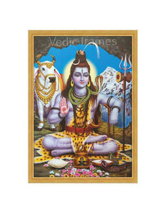 Lord Shiva with Nandi in a cave
