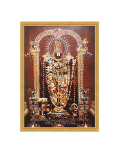 Lord Venkateshwara glow sand finish - Antique photo
