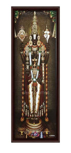 Lord Venkateshwara with white garland (Vertical)
