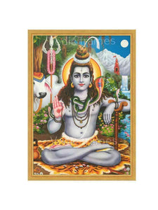 Lord Shiva seated at river bank