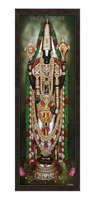 Lord Balaji with thulasi garland (Vertical image)