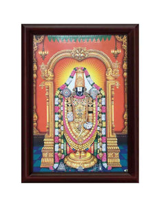 Lord Venkateshwara with Mavilai thoranam