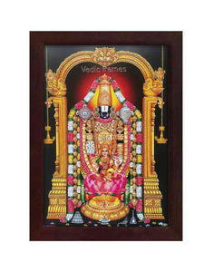 Lakshmi Venkateshwara with hanging lamp and brown background