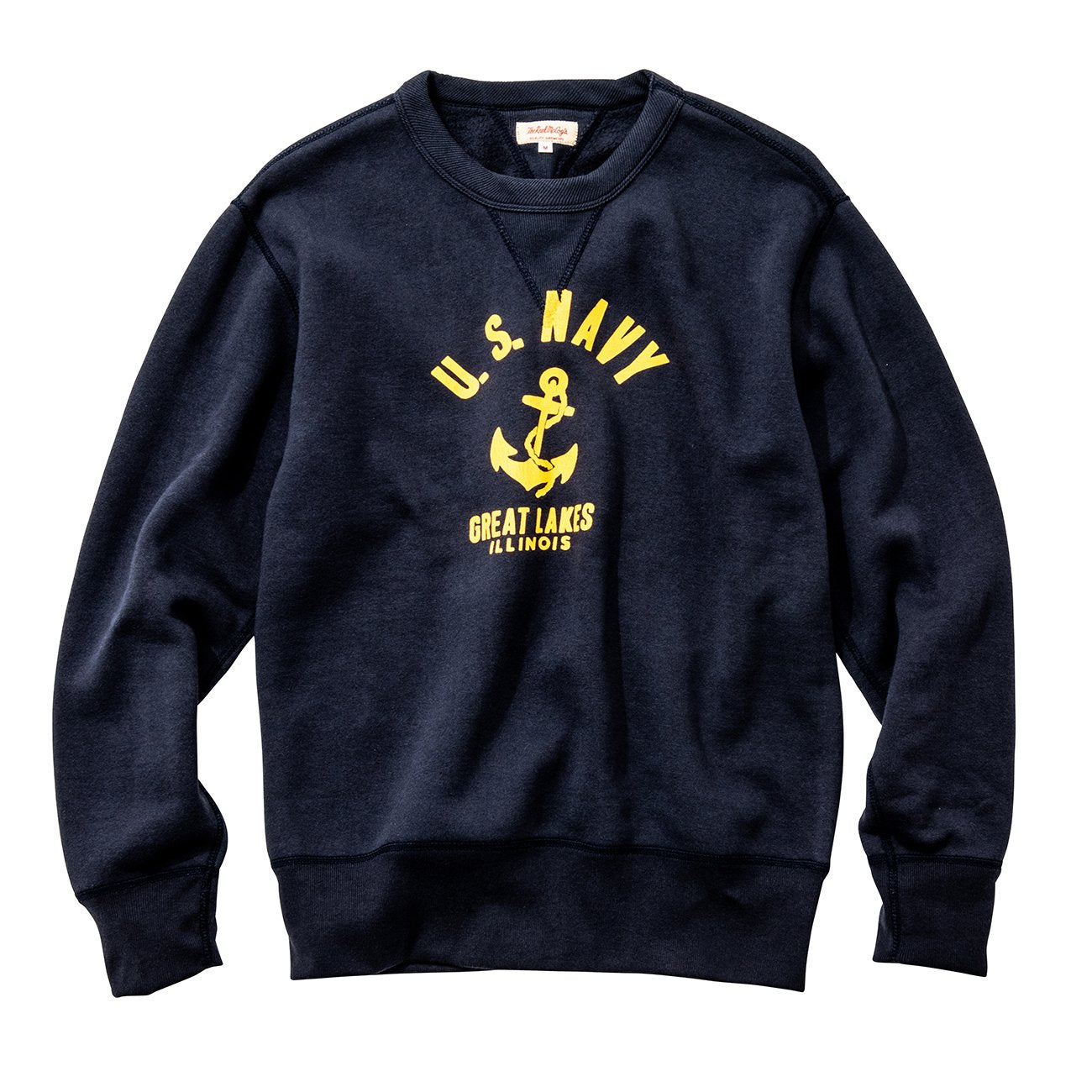 Military Print Sweatshirt / U.S. Navy Anchor