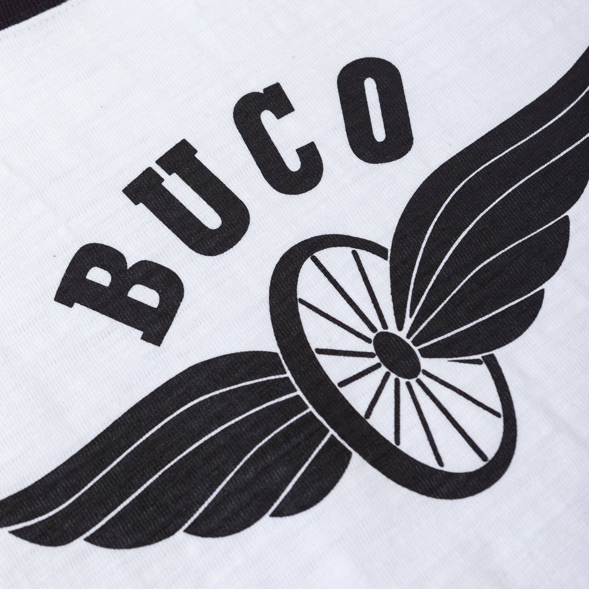 Buco Striped Baseball Tee / Flying Wheel