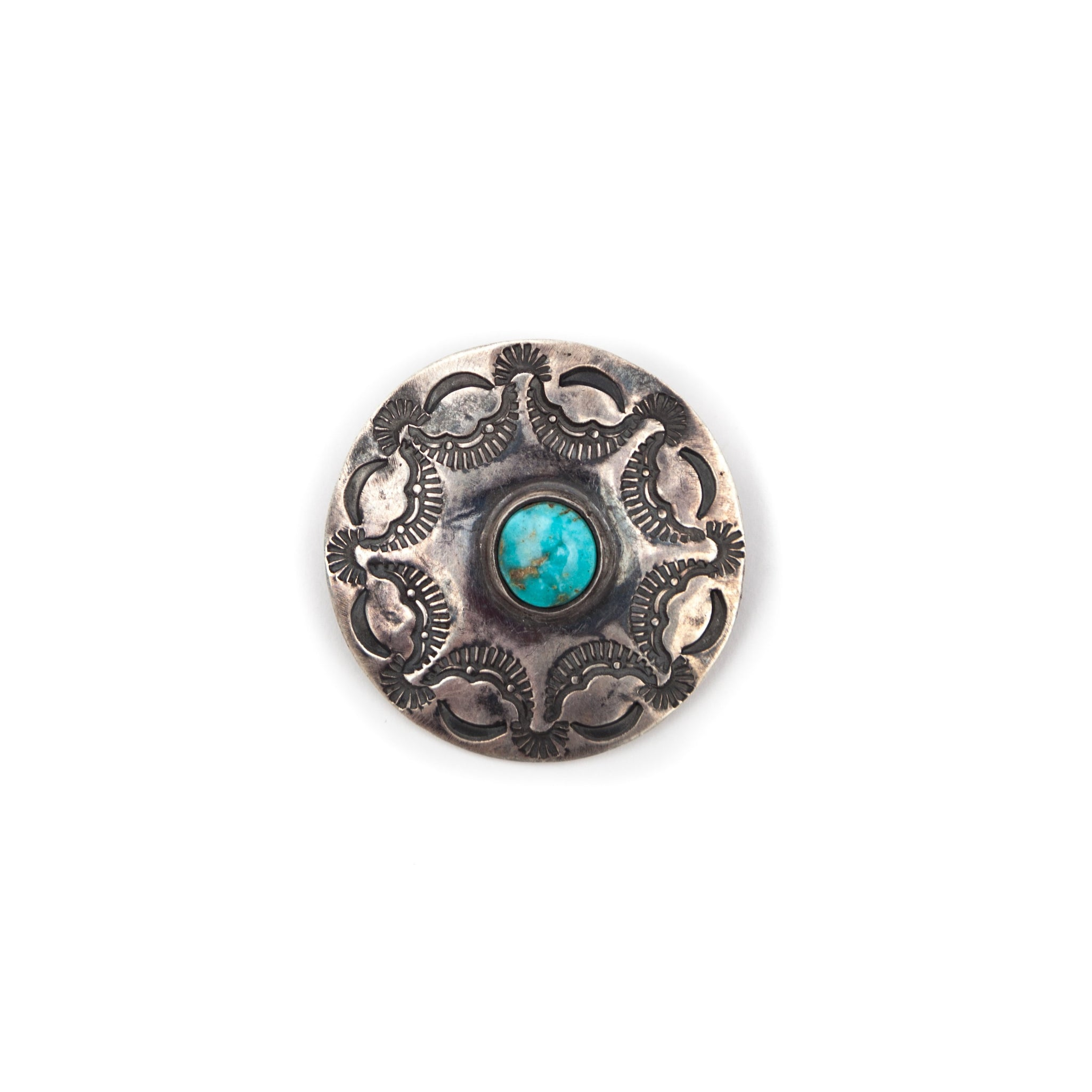 Silver Brooch & Turquoise Stone #1