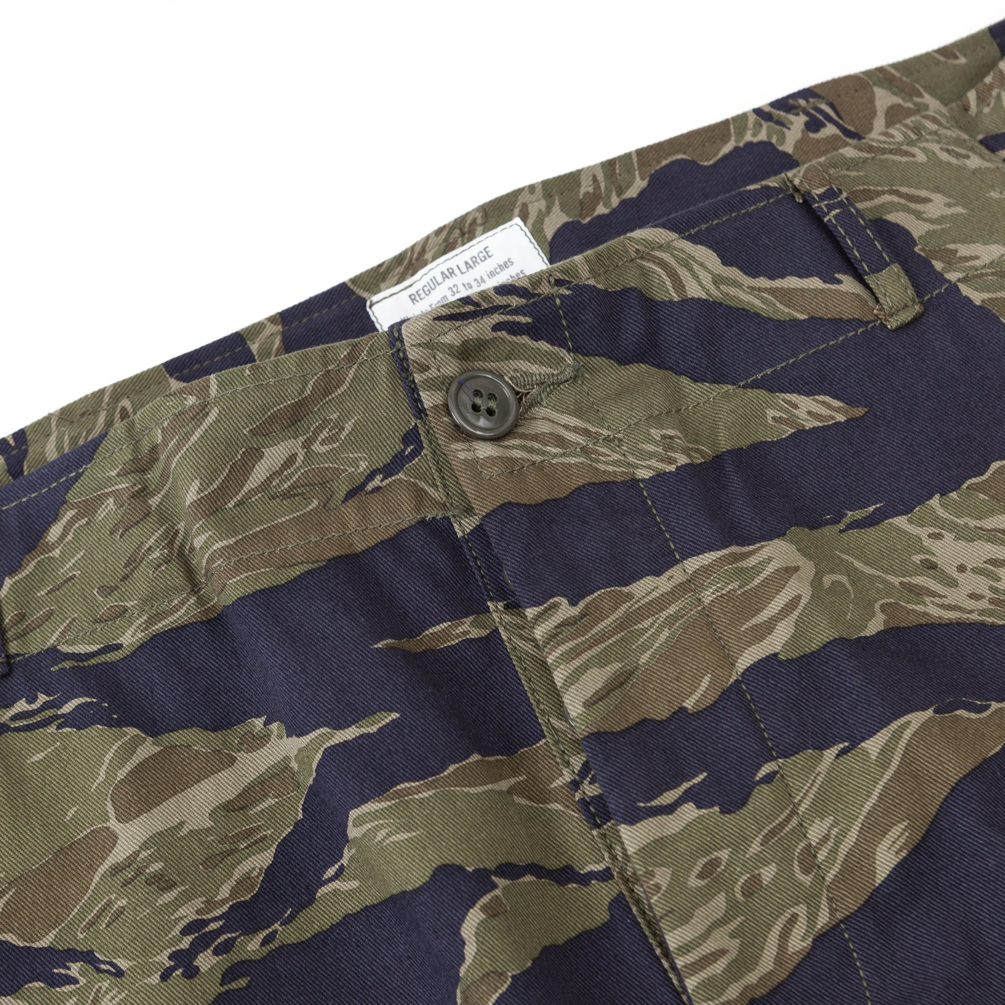 Tiger Camouflage Trousers / Purple Fade