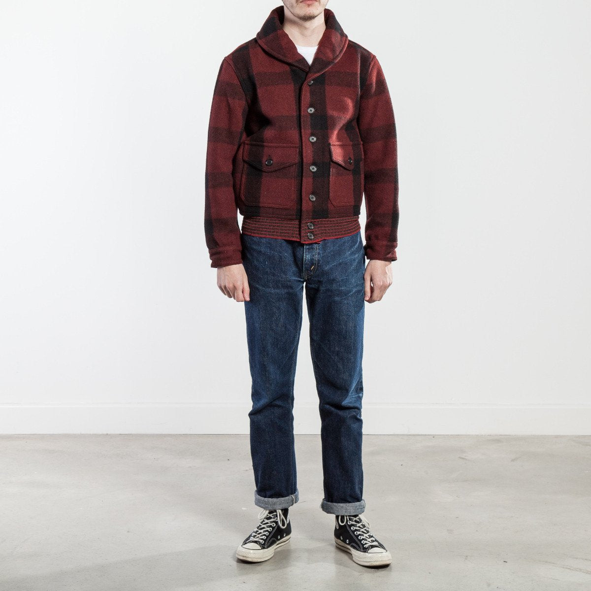 The Real McCoy's CCC Jacket (Red Plaid) MJ18122-101