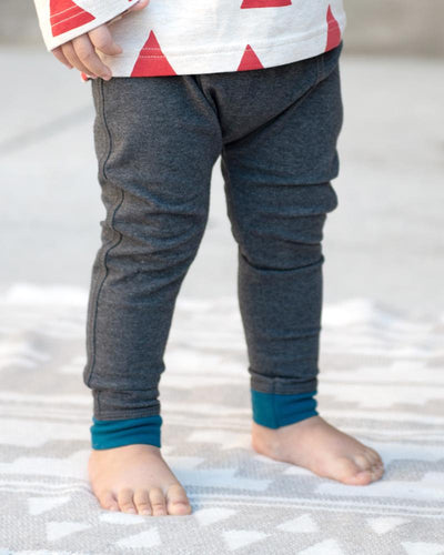 Baby Bean Pants - Dark Heather Charcoal