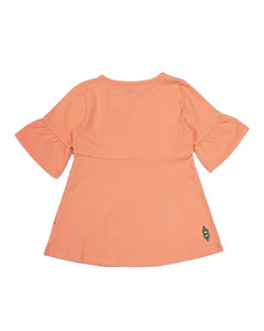 Abstract Tee - Peach