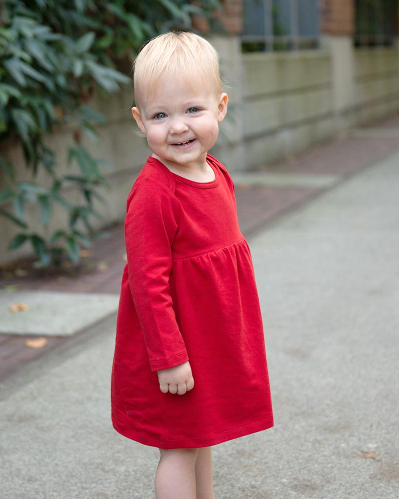 Tiny Twirler Dress - Rouge