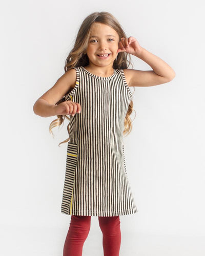 Her Way Dress - Black Slinky Stripe