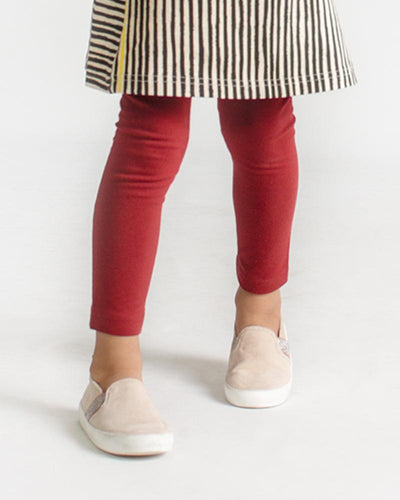 Party Perfect Leggings: Burgundy