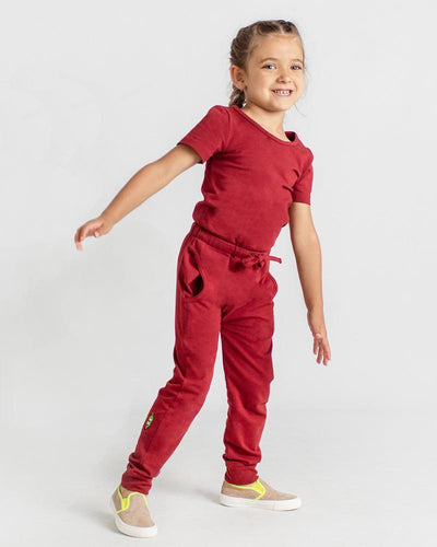 Jump To It Romper - Burgundy