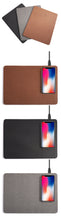 Load image into Gallery viewer, Mobile Phone Qi Wireless Charger Charging Mouse Pad Mat PU Leather for iPhone X/8 Plus Samsung S8 Plus /Note
