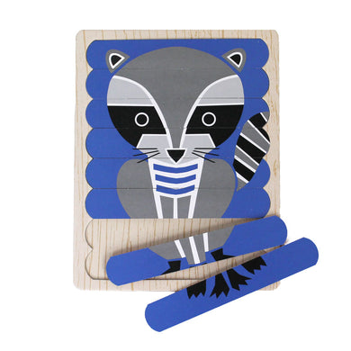 Geometric Animals Puzzle Sticks
