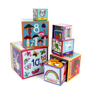 First Words Tot Tower Stacking Blocks