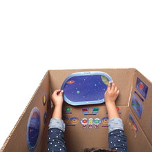 Load image into Gallery viewer, Spaceship Pretend Play Reusable Stickers