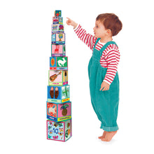 Load image into Gallery viewer, First Words Tot Tower Stacking Blocks
