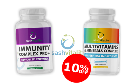 SashVitality Immunity Complex PRO+ and Multivitamins and Minerals complex