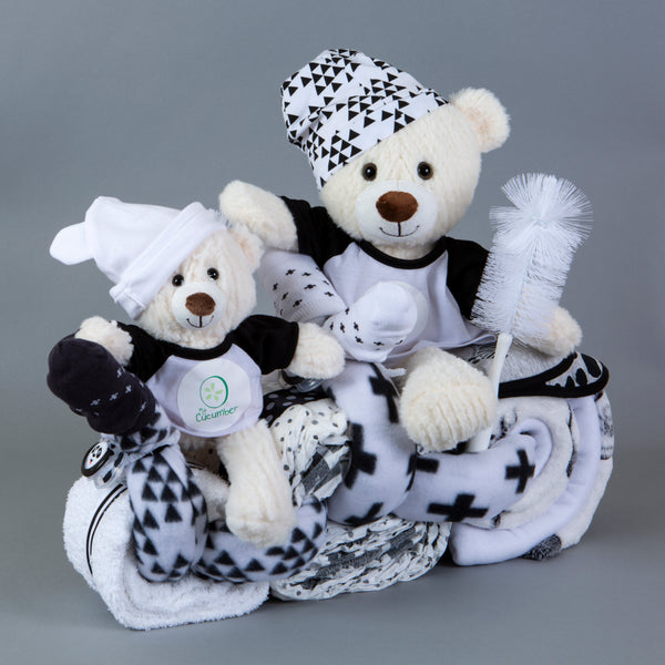Comet and Chase - tandem nappy cake bike