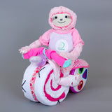 Belle - 1st birthday nappy bike/nappy cake
