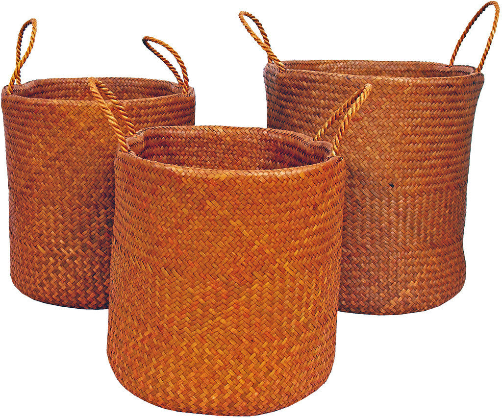 Mai Rope Handle Bulrush Baskets
