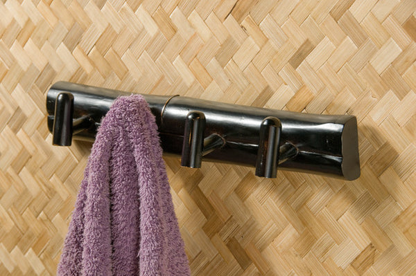 Sabai Bamboo Four Hook Wall Rack