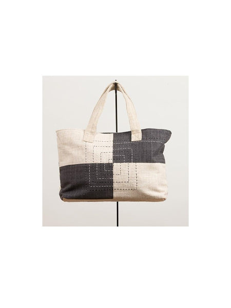 Black & Cream Retangular Tote Bag
