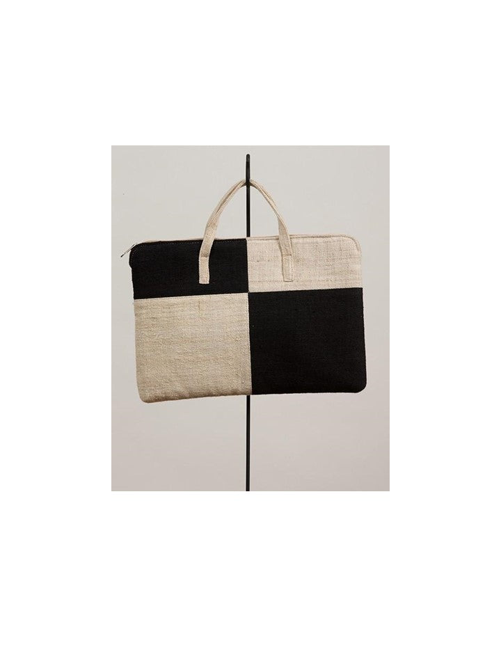 Black & Cream Tablet Bag