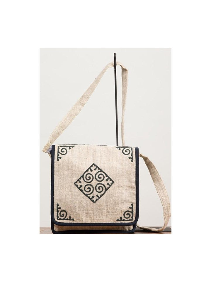 Black & White Diamond Messenger Bag