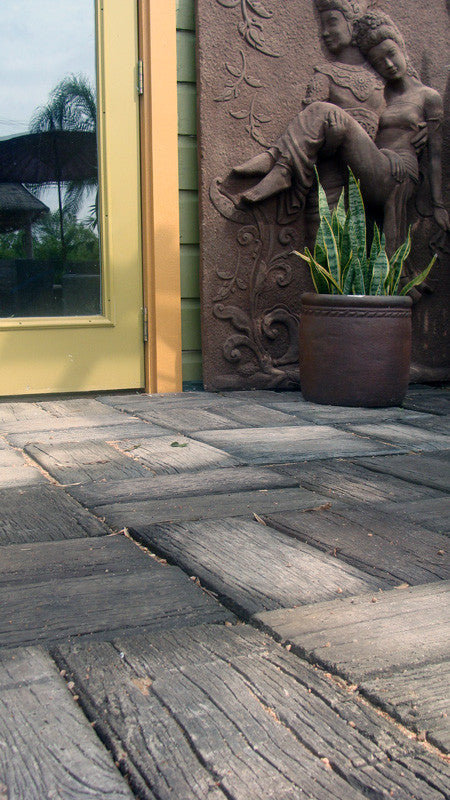 Sample Paver Piece: Wood Grain Concrete Paver (unstained)