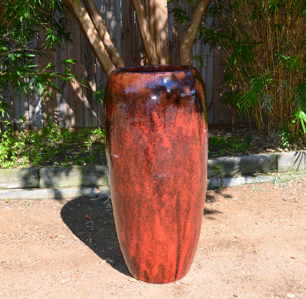 Red Wine Tall Vase Planter