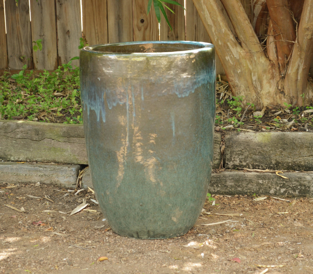 Misty Green Cylinder Planter