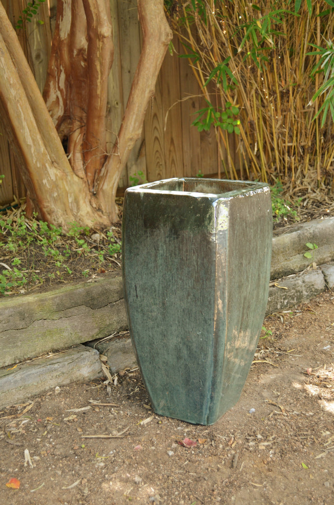 Misty Green Square Tapered Planter