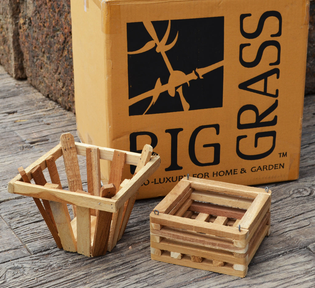 Teakwood Basket Sample Box: 2 pcs/unit. Unit Price: $10
