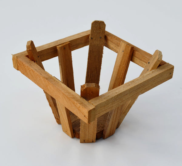 Teakwood Tapered Orchid Baskets 7