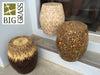 Inlaid Bamboo & Coconut Stools
