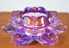 Glass Lotus Candle Holder