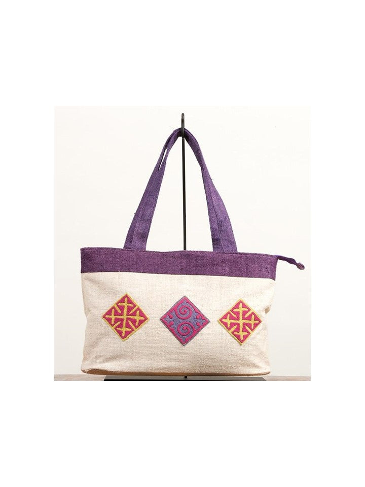 Multi-Colored Diamond Tote Bag