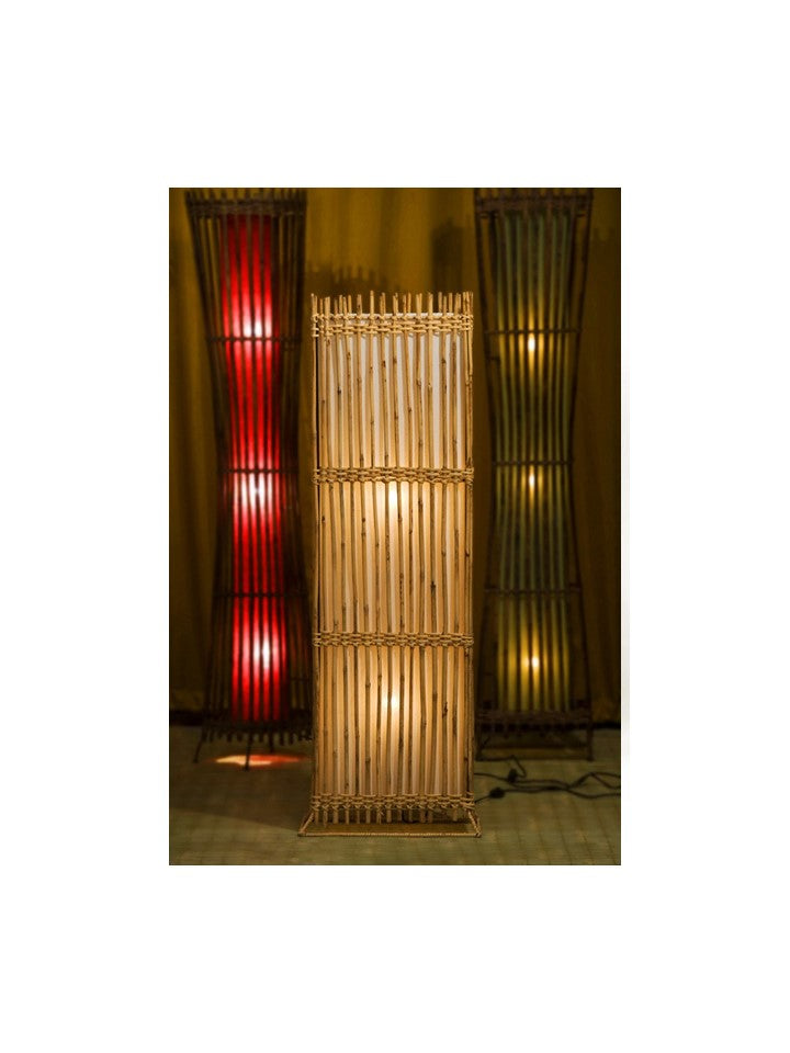 Noi Bamboo Rectangular Floor Lamp