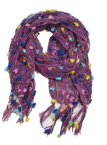 Chenille Pebble Knit Scarf