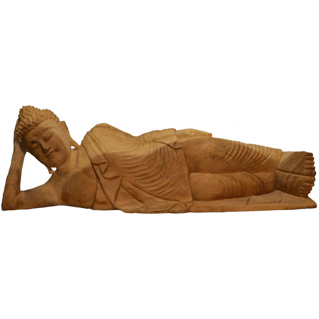 Reclining Buddha Wood carving