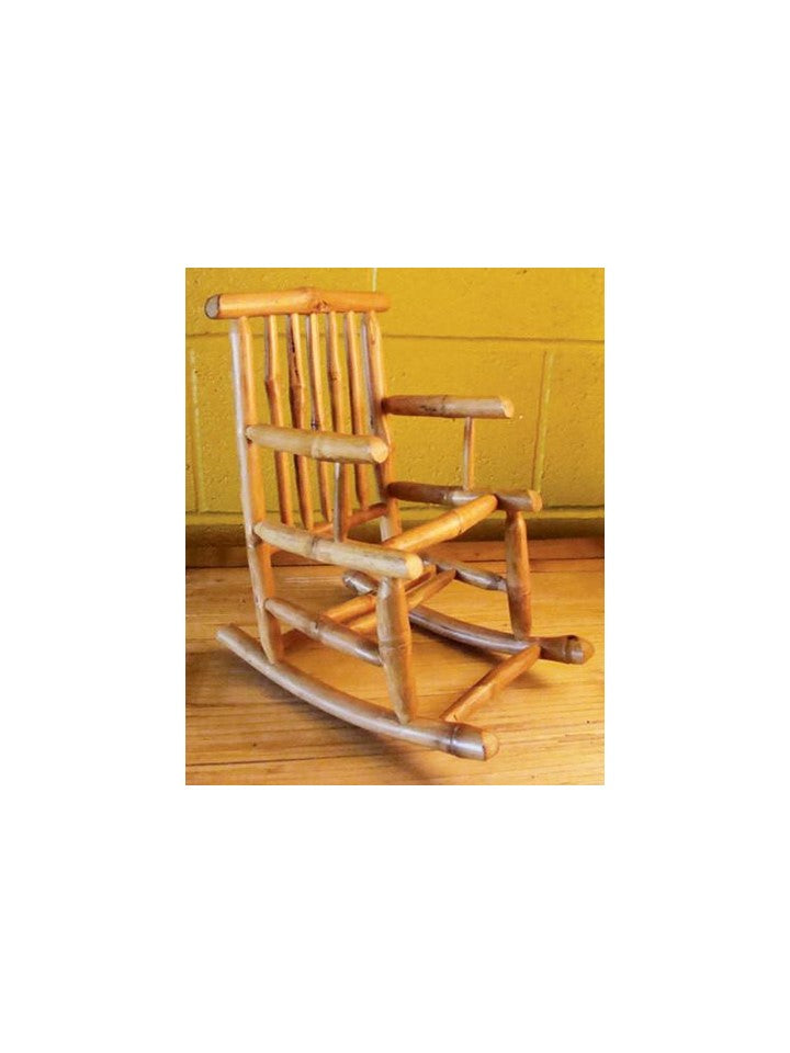 Sabai Bamboo Rocking Chair Wine Bottle Holder