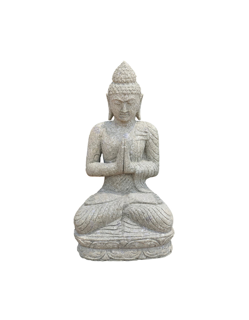 Green Stone Sitting Buddha