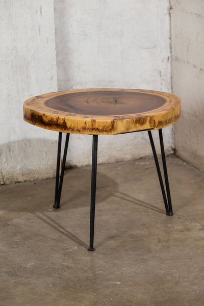 Slab Side Table with Steel Legs