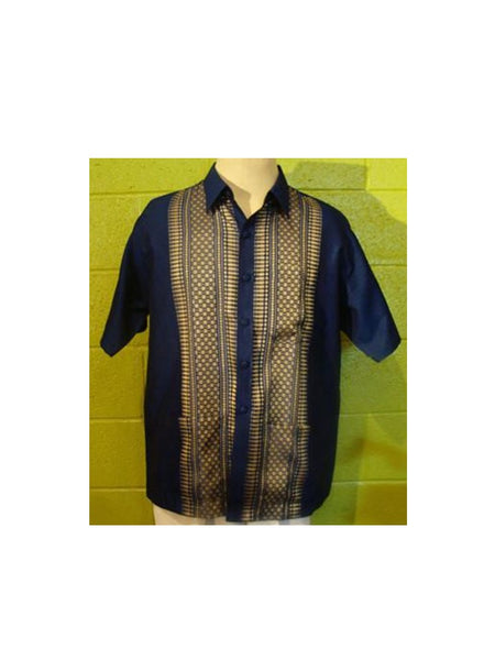 Thai-Yabera Shirt - Navy