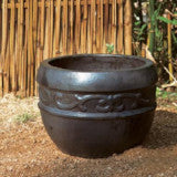 Banded Black Planter